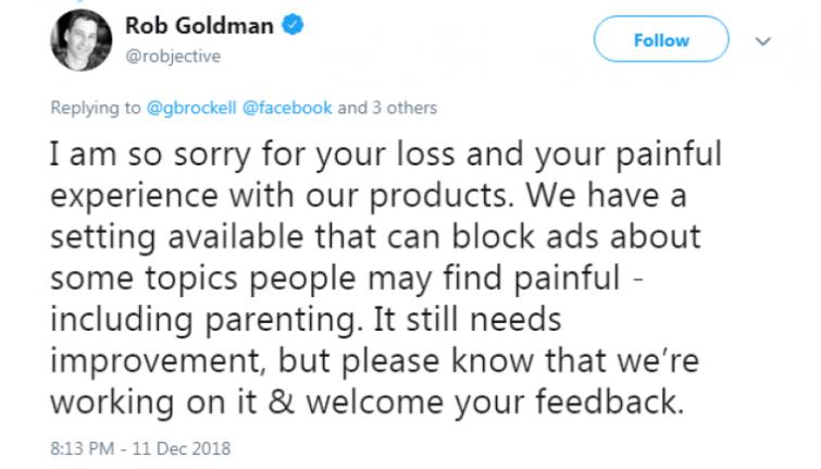 Rob Goldman Tweet