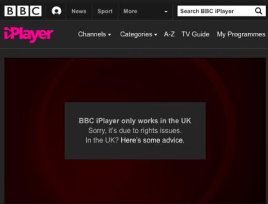 BBC iPlayer Proxy Error
