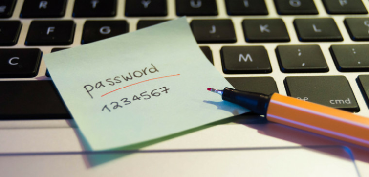 Password written down to be shared