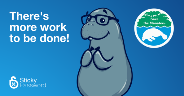 sticky password save the manatee campaign