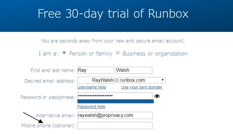Runbox free trial