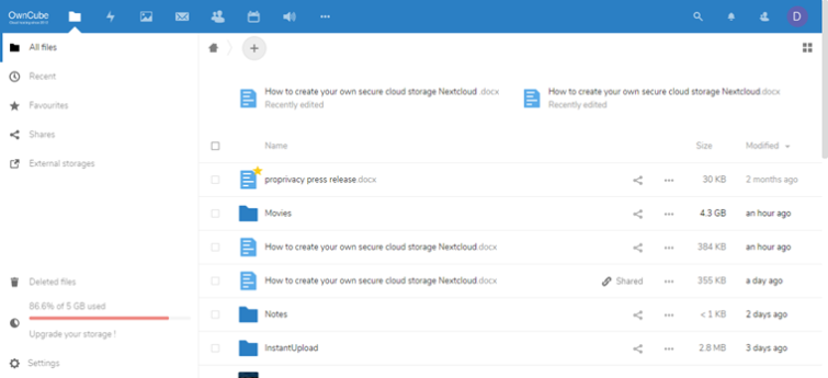 nextcloud folders