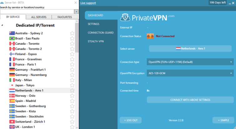 privateVPN for torrenting