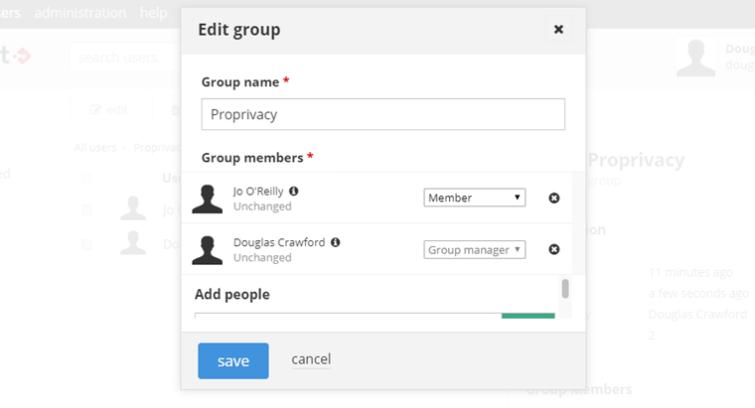 edit group of team members