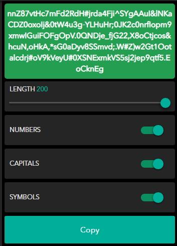 create passwords on Myki