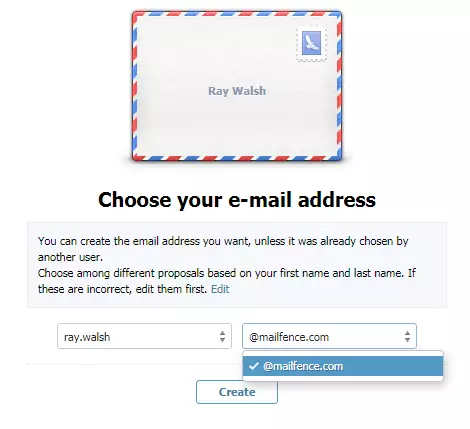 choosing your email address