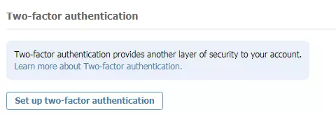 the two factor authentication