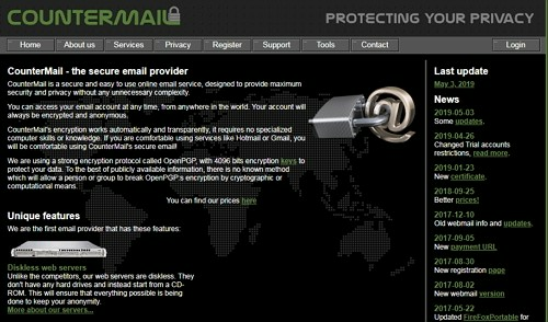 countermail website
