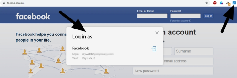 Passwork with Facebook