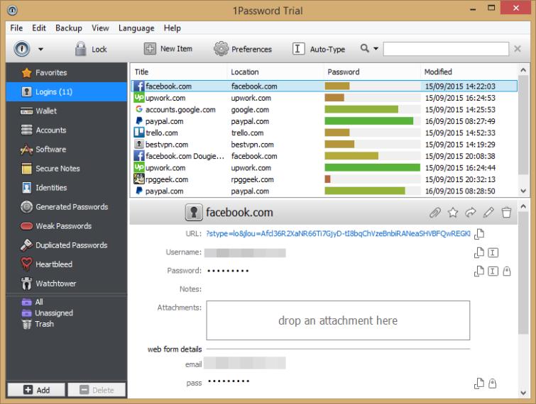 saved passwords in the desktop app