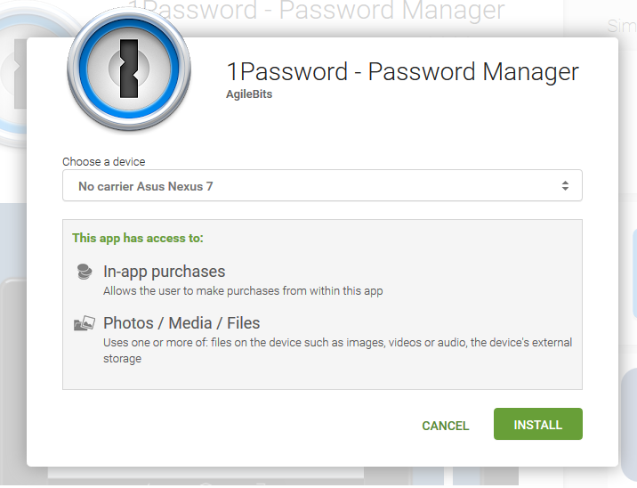 Installing 1Password manager