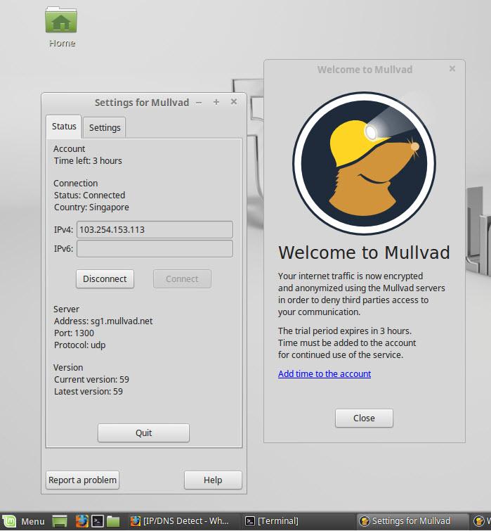 Linux VPN Mullvad