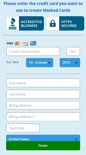 blur password manager payment screen