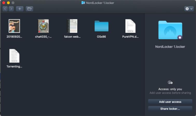 NordLocker Folder