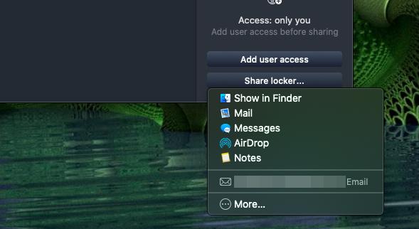 NordLocker folder sharing