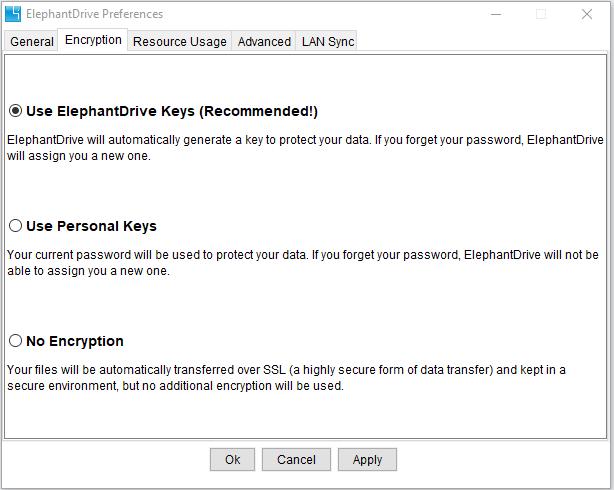 zero knowledge elephant drive keys