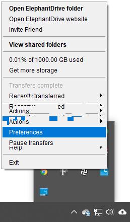 Mac Elephant drive preferences