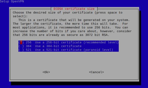 ECDSA certificate size