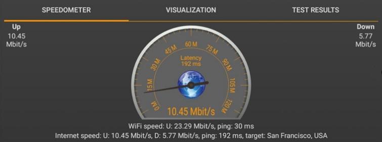 Vilfo speed test 4