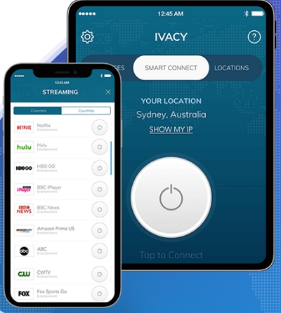 Ivacy VPN client