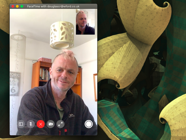 Team call with Apple FaceTime