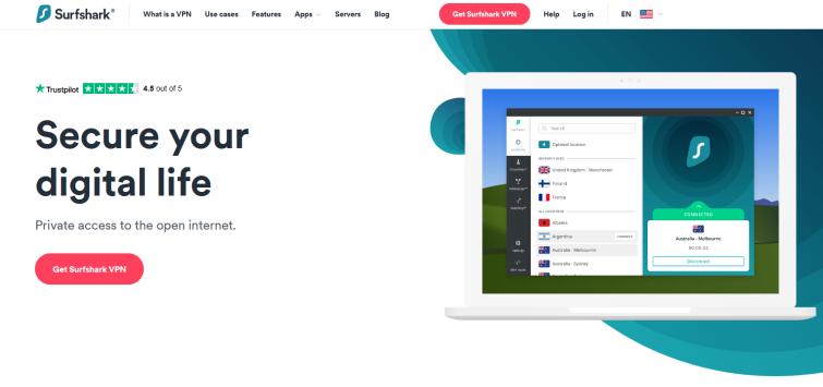 SurfShark website