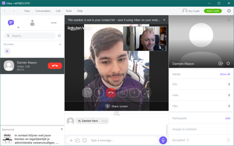 Team call with Viber
