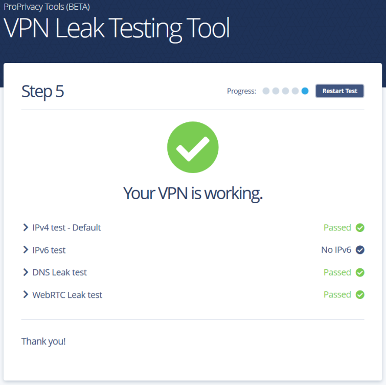 VPN leak test image