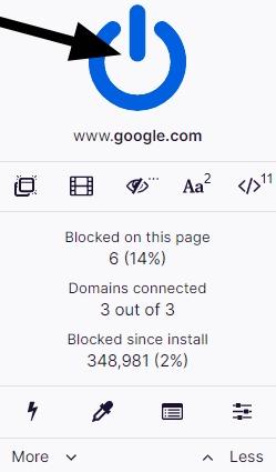 turn on Ublock