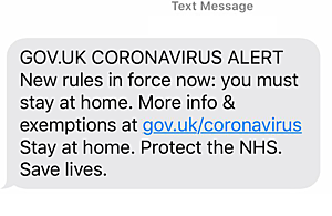 Gov.uk Smishing Message