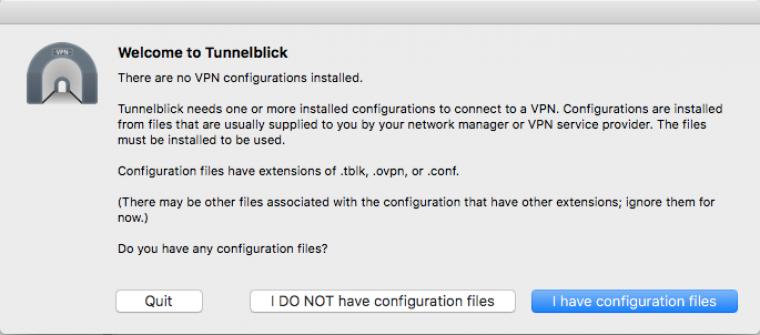 tunnelblick configure files