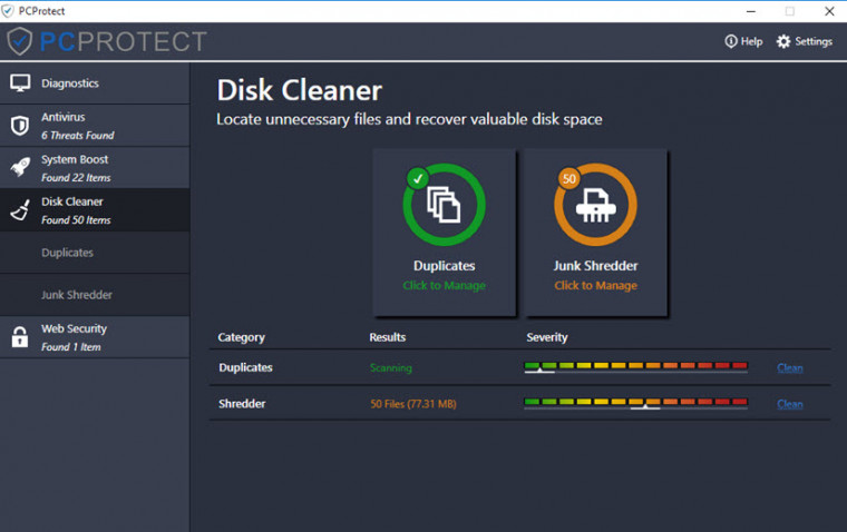 PCProtect Disk Cleaner