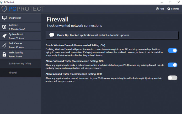 PCProtect Firewall