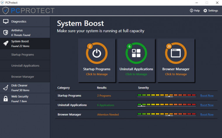 PCProtect System Boost
